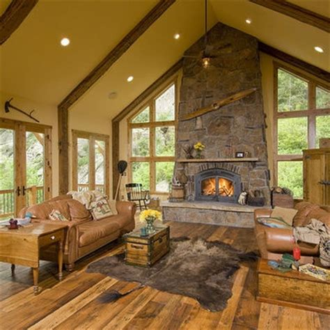 images  rustic fireplace designs  pinterest