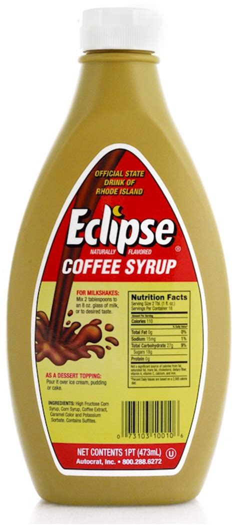 Taste and add more syrup if you want a stronger coffee taste. Eclipse Coffee Syrup 6-16 oz. Bottles