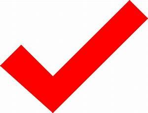 Red Check Mark Clip Art at Clker.com - vector clip art ...