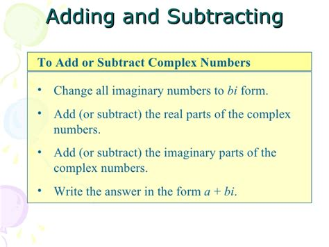 adding and subtracting complex numbers worksheet kidz