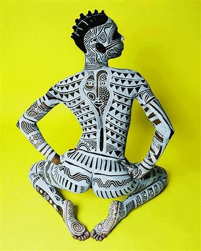 Laolu Senbanjo Arte Yoruba Africana Female Maquiagem