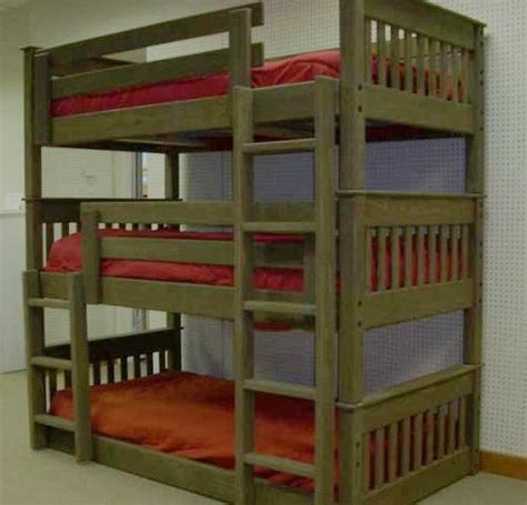 triple bed tags wooden triple bunk beds  adults