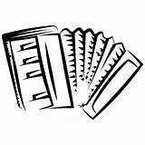 Accordion Musical Coloring Children Icon Simple Instruments sketch template