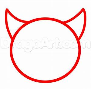 How to Draw Devil Emoji, Step by Step, Characters, Pop ...
