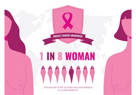 Woman Survivor Breast Cancer 237855 Vector Art at Vecteezy