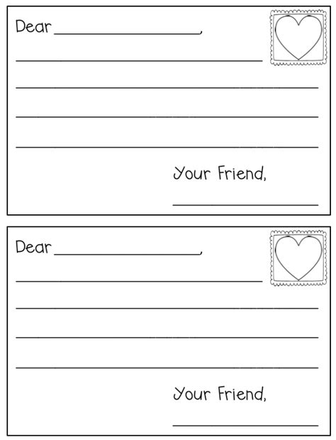 Free Letter Writing Template by And Free Letter Template For S Day In
