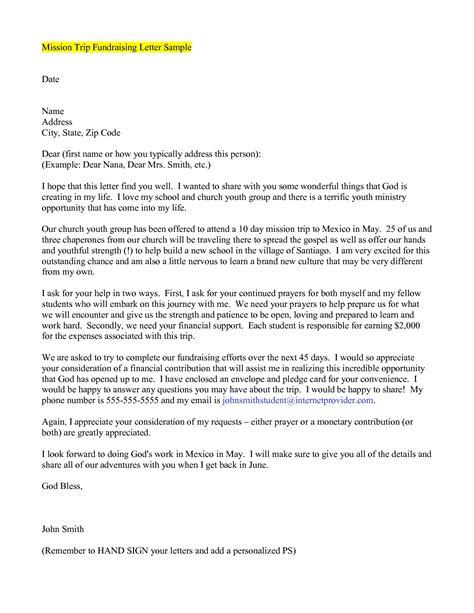 sle mission trip support letter the best letter sle