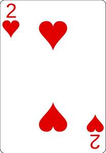 2 of Hearts Playing Card