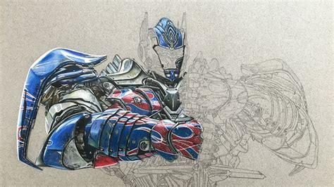 artwork  aoe optimus prime drawing wip