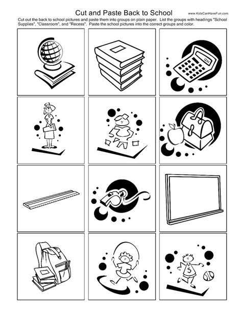15 best images of health worksheets cut and paste moon