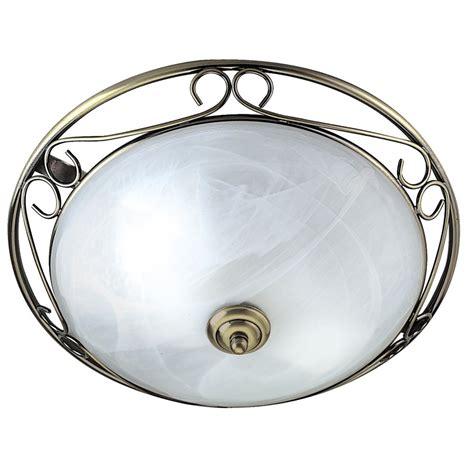 searchlight 6436 flush 2 light antique brass flush