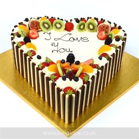 belgique heart eggless fresh fruit cake ec