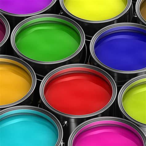 paint colorful different types of paint