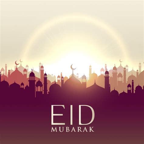eid mubarak design  sun  city vector
