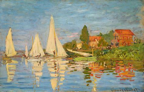 Monet Boats At Argenteuil by Artists Claude Monet Part 5 1871 1872