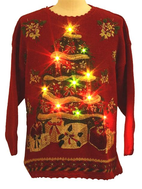 lightup ugly christmas sweater tiara international
