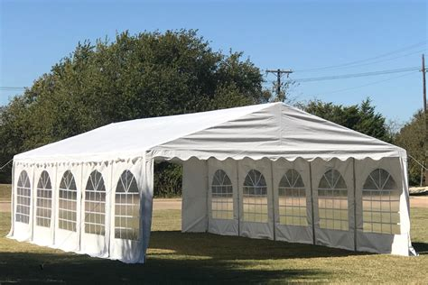 pe party tent heavy duty carport canopy wedding shelter white ebay