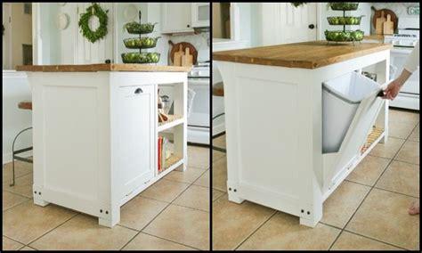 trash bin storage kitchen island build a kitchen island with trash storage diy projects 8583