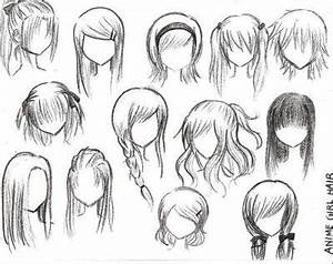 Anime Hairstyles For Girls Ponytail | Style, Drawing hair ...