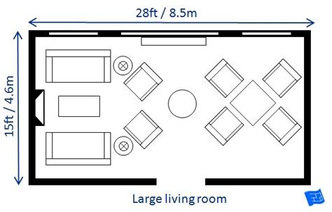 Living Room Design By Size by A List Of Small Medium And Large Living Room Size