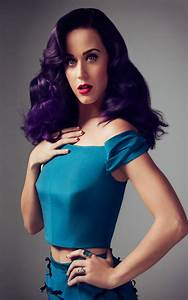 Katy Perry in Blue Dress - Download Free HD Mobile Wallpapers