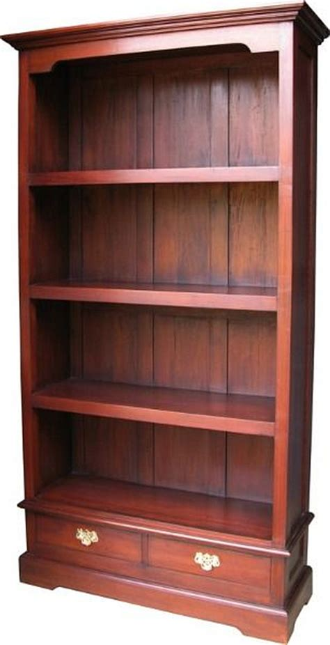 Wide Bookcase With Drawers by And Wide Bookcase With Two Drawers In Mahogany