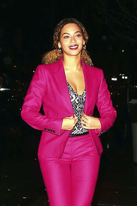 In Pink by Beyonce Candids In New York Gotceleb