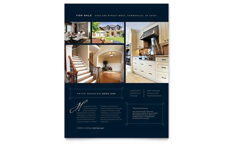 Luxury Home Real Estate Flyer Template - Word U0026 Publisher