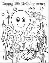Coloring Animals Ocean Brilliant Sea Birijus sketch template