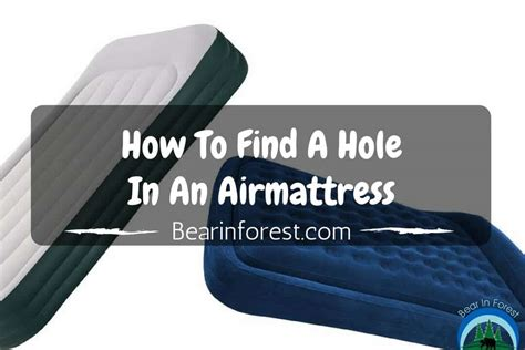 This Is How To Find A Hole In An Air Mattress