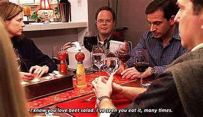 Office Dinner Dwight Party Schrute Angela Martin