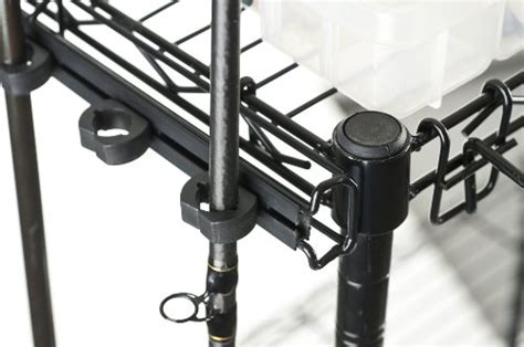 organized fishing adjustable  shelf rolling tackle