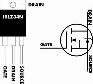 irlz34n n channel mosfet With driving nchannel mosfets with a microcontroller