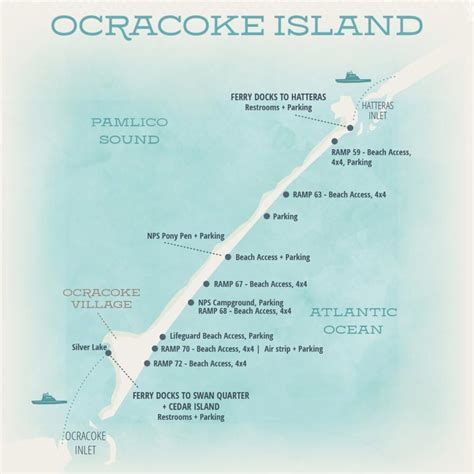 outer banks media portfolio ocracoke nc map brochure design