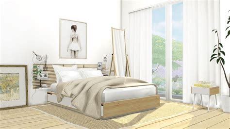mxims ikea mandal bedroom set  bedframe  polygons