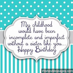 Birthday Wishes... Cute Sister Bday Quotes