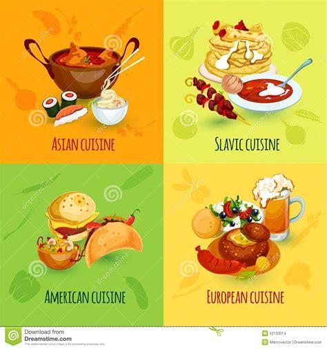 cuisine concept food set vector illustration cartoondealer com