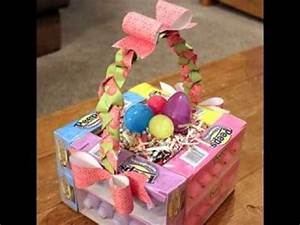 Homemade easter basket decorating ideas - YouTube