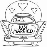 Wedding Coloring Pages Married sketch template