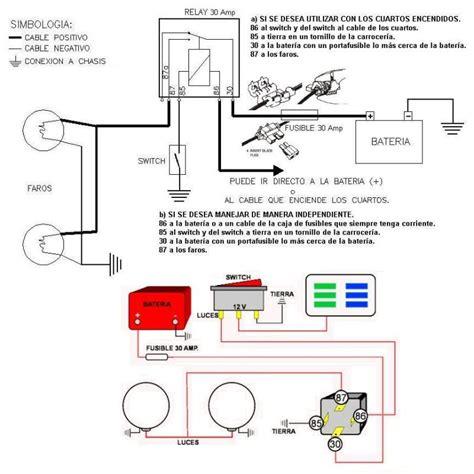 guia para instalar faros con relay faros relay instalacion fusible neblineros elevador de