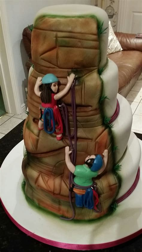 rock climbing wedding cake  clever  cake company