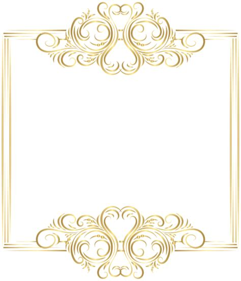 gold border frame png clip art gallery yopriceville high quality
