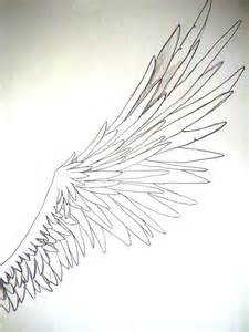 Anime Angel Wings Drawing