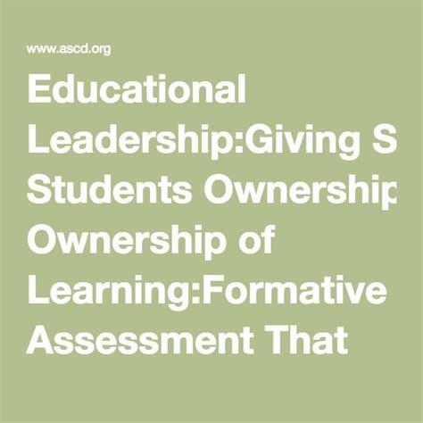 educational leadershipgiving students ownership