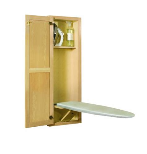 portable ironing board cabinet hide away supreme unfinished oak ironing boards 160 00