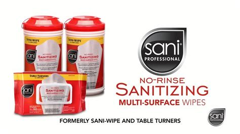sani wipes professional surface sanitizing rinse multi