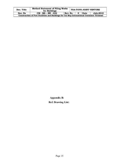 Piling work method statement cm- ms- bw - 002