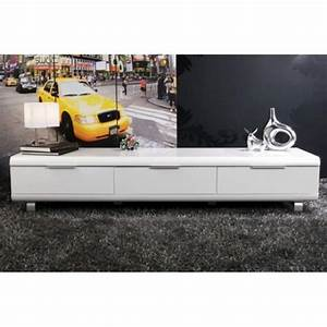 Tv 190 Cm Pas Cher : meuble tv blanc pas cher meuble tv avec support trendsetter ~ Teatrodelosmanantiales.com Idées de Décoration