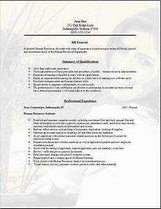 hr general resumeexamplessamples free edit with word With general resume format