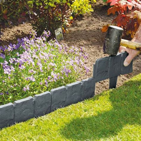 ideas  garden edging  pinterest flower